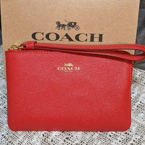 Coach Corner Zip Wristlet